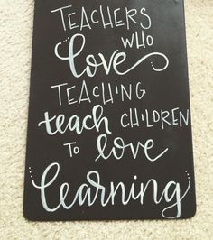 Clipboard for a teacher gift. Chalk painted and hand lettered.