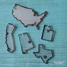Make all the State and Country LOVE pendants you want with this simple diy #tutorial