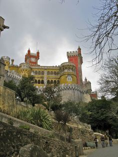 Pena National Palace Estrada da Pena Sintra, Portugal Must-see day trip from Lisbon by Monica Hahn So beautiful!