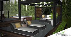 28 ideas for patio garden pergola tuin Pergola Ideas For Patio, Small Pergola, Patio Gazebo, Deck With Pergola, Backyard Pergola, Pergola Shade, Diy Patio, Pergola Kits, Modern Pergola