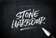 Introducing Stone Harbour! ...a punchy new Dry Marker Script ..with loads of attitude and extras. Please Note : To access all the alternate letters for this font you will need software with