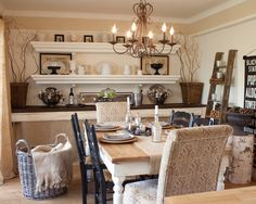 The Old Painted Cottage's Design, Pictures, Remodel, Decor and Ideas - the upholstered chairs add texture