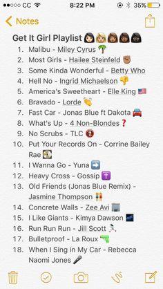 Get It Girl Playlist