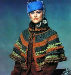 Crochet Pattern Vintage 1970s Boho Shoulder Cape by 2ndlookvintage, $4.00