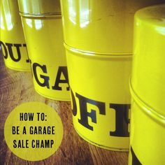 how to: be a garage sale champ