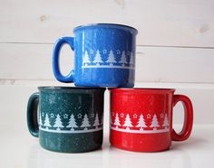 Cozy Holiday Sweater Mug Santa Red by AfternoonCoffee on Etsy