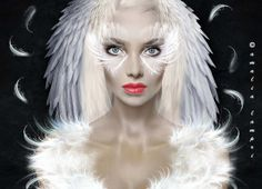 Wings and feathers by Amalia Lampri