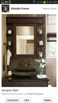 Want this for my smaller bathroom...love it