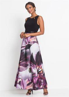 6e496c9ccdd Abito con stampa floreale Nero   viola a fiori è ordinabile nello shop  on-line