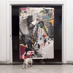 Street Riddim colagem com propaganda 180 x 120 cm