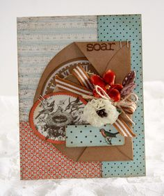 Love this card using a line I love: Gathering by Authentique