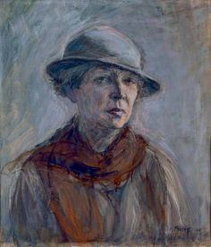 Ellen Thesleff Self-Portrait with Hat - Thesleff studied in Helsinki Adolf von Becker), in The Finnish Art Society drawing school and The Academy of Gunnar Berndtson and also in Paris Académie Colaros and She also studied woodcuts in Florence since Female Painters, Drawing School, Art Society, Portrait Inspiration, Portrait Photo, Traditional Art, Female Art, Art Museum, Oil On Canvas