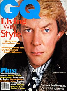 Donald Sutherland for GQ, January 1984