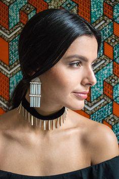 The Modern Tribe Collection - Hian Jewellery - minimal handmade jewelry, silver earrings, choker