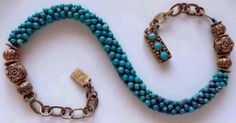 CHINESE-Old-natural-Turquoise-gold-wash-Gilt-sterling-Silver-Necklace