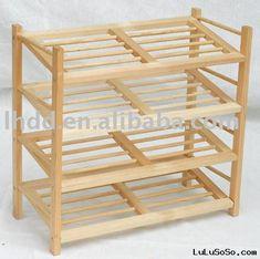 Spacious Wood Shoe Rack Plans