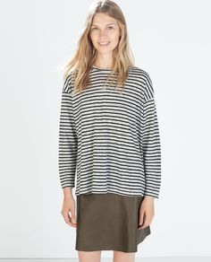 Image 1 of LONG SLEEVE T-SHIRT from Zara