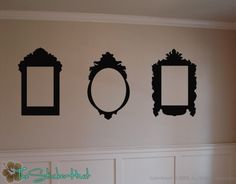 3 Baroque Style Frames Sticky Vinyl Wall Stickers by thestickerhut