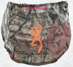 Camo Diaper Cover ~ Mossy Oak ~ Orange Deer ~ BOY ~ GIRL ~ Bloomer ~ Custom Boutique Pic 1 ~ Boy Diaper Cover appears as picture shows (NO