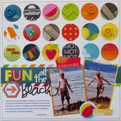 Fun at the Beach  **My Creative Scrapbook** - Scrapbook.com - Bo Bunny's Lemonade Stand collection  is perfect for documenting a fun trip to the beach.