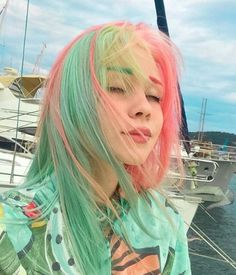 Terrific Free Dyed Hair aesthetic Concepts Are the origins providing the sport . - Terrific Free Dyed Hair aesthetic Concepts Are the origins providing the sport aside that will you - Dye My Hair, Your Hair, Half Dyed Hair, Hair Inspo, Hair Inspiration, Character Inspiration, Pelo Multicolor, Aesthetic Hair, Pinterest Hair