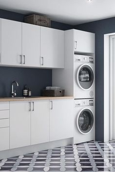 Modern Laundry Rooms, Laundry Room Layouts, Laundry Room Remodel, Laundry Room Organization, Laundry In Bathroom, Laundry Room Small, Garage Laundry Rooms, Ikea Laundry Room, Laundry Cupboard