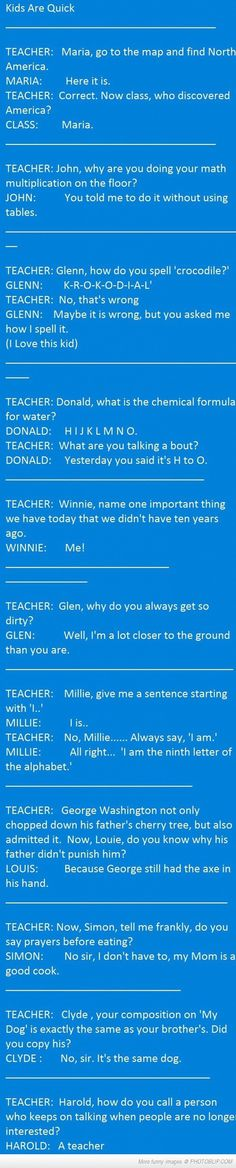 Kids vs Teacher funny jokes story lol funny quote funny quotes funny sayings joke humor stories funny kids funny jokes Funny Texts, Funny Jokes, Hilarious Quotes, Funny Laugh, E Cosmetics, Humor Grafico, Teacher Humor, Classroom Humor, Have A Laugh