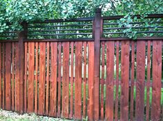 wood Fence with metal trim