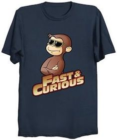 Curious George HANGIN/' OUT with Bananas Licensed Adult T-Shirt All Sizes