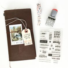 one fine day Traveler's Notebook layout using stamps