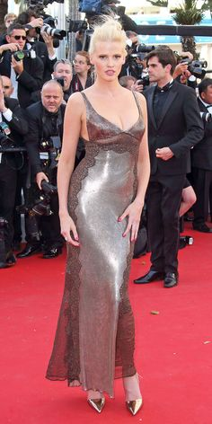 The Best of the 2015 Cannes Film Festival Red Carpet - Lara Stone from #InStyle