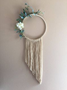 Eucalyptus Hoop Wreath Wall Hanging Tapestry Greenery Green Dreamcatcher Flower Nursery Decor Boho Bohemian Modern Bedroom Dorm Apartment Eucalyptus Hoop Wreath Wall Hanging Tapestry Greenery Green Dreamcatcher Flower Nursery Decor Boho B Décor Boho, Boho Diy, Modern Bohemian, Diy Wall Decor, Nursery Decor, Decor Room, Home Decor, Diy Wreath, Wreaths
