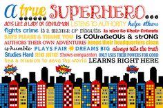 A True Superhero. Classroom Superhero Rules. by LittleLifeDesigns