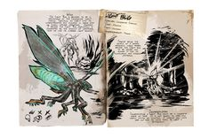 Want to learn what the animals in ARK really were like? Read this guide. Curious Creatures, Wild Creatures, Fantasy Creatures, Game Ark Survival Evolved, Einstein, Dinosaur Art, Wedding Book, Story Inspiration, Creature Design