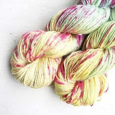 I love this yarn. It's soft because of the alpaca but the silk makes it glow. I've seen some gorgeous things being made from this yarn which was April yarn club it's definitely one to use straight away don't you think?