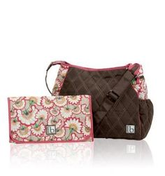 CINDA B BABE-A-LICIOUS BABY BAG WITH CHANGING PAD - BELLA FIORE COCOA