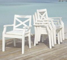 Shop Pottery Barn for expertly crafted outdoor furniture sets. Find patio furniture sets including outdoor chairs, dining tables and more, perfect for any style. Tufted Dining Chairs, White Dining Chairs, Outdoor Dining Furniture, Outdoor Dining Chair Cushions, Outdoor Dining Chairs, Patio Chairs, Dining Chair Set, Room Chairs, Outdoor Living