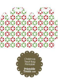 Christmas Wreath Treat Bag from PrintableTreats.com