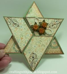 Star Fold Card by Joanie... includes tutorial