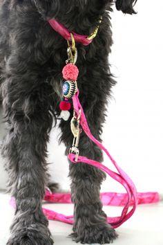hippie leine und - pink dog leash tie dye hippie boho