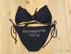 Bachelorette party bikini set. Honeymoon. Bridal by JMTboutique