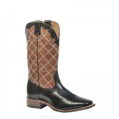 Boulet Mens Navajo Super Black Western Boots