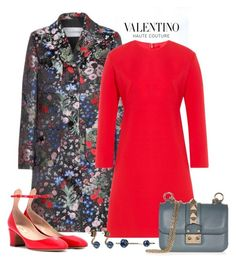 """""""Valentino Embroidered Silk Coat Look"""" by romaboots-1 ❤ liked on Polyvore featuring Valentino"""