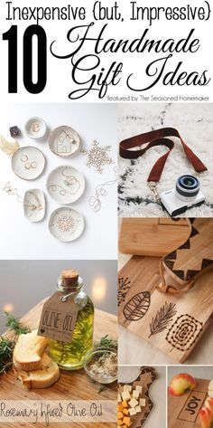 Looking for a few Inexpensive {but impressive} Handmade Gifts. Check out my short list of ideas.