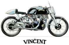 Lovely motorcycle illustrations (including this classic Vincent) by Lars Holm, via Behance.