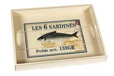Podnos LES 6 SARDINES - vetsi. Cena: 390 Kc. Nakupujte na www.almara-shop.cz.