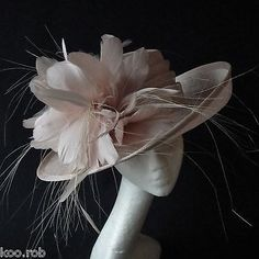 Nude sinamay hat for #ascot races, weddings, #special #occassions, View more on the LINK: http://www.zeppy.io/product/gb/2/181947931733/