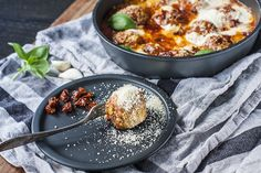 Cheesy Tomato Meatballs