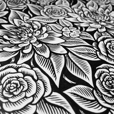 Another pattern in progress @sheyleigh Time to get kitted up! #illustration #floral #pattern #print #fabric #art #rose #roses #inking #flowers #kit #cycling #bike #petals #floralprint #floralpattern #repeatpattern #rose by xsamdunnx