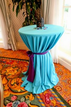 Aladdin Themed Wedding Rehearsal Dinner - Inspired By Dis. I just like the tables cinched.with the ribbon